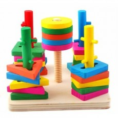 Bộ thả hình 3D wooden