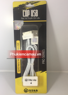 Cáp sạc iphone 2G/3G/3Gs/4G Titan