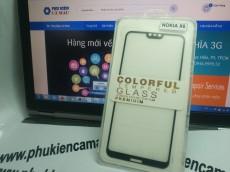 Kính cường lực Nokia X6 full keo (2D5D9H....)