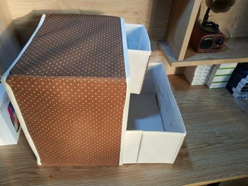 Hộp vải đựng đồ 3 ngăn